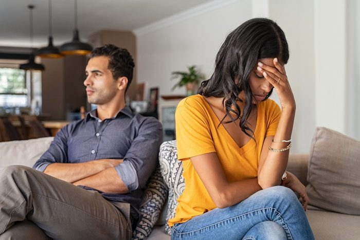What a Narcissist Does at the End of a Relationship   Young couple having argument at home