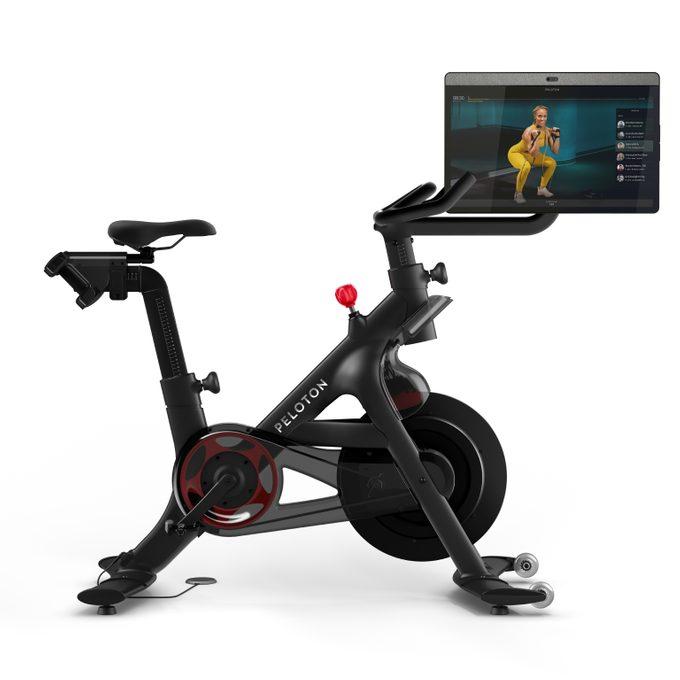 peleton bike+ review canada   image of the peleton with rotating screen