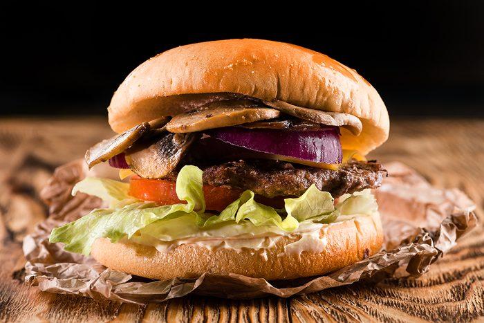mushroom recipes   mushroom beef burger