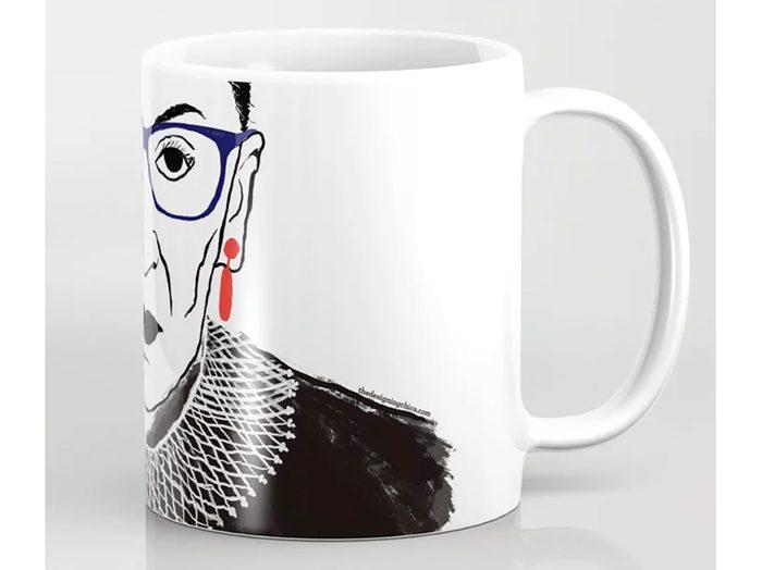 Society6 RBG mug   wellness gifts   best health gift guide