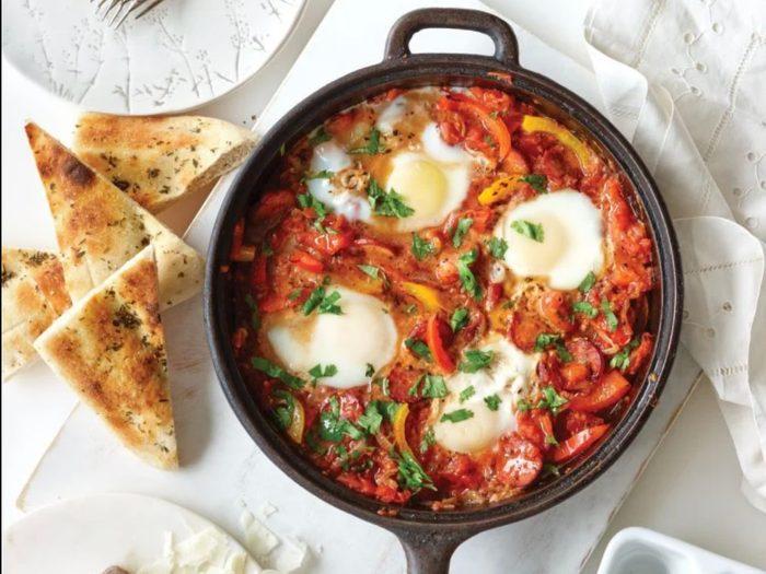 Spanish-style eggs   egg recipes