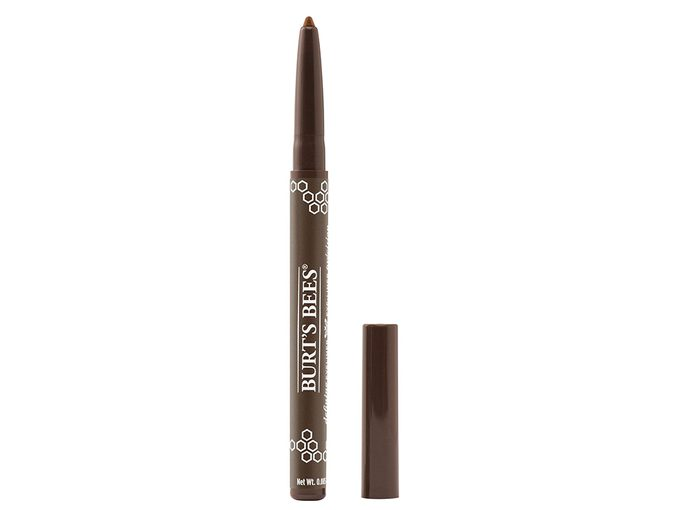 holiday eye with face mask | Burt's Bees eyeliner in bronze