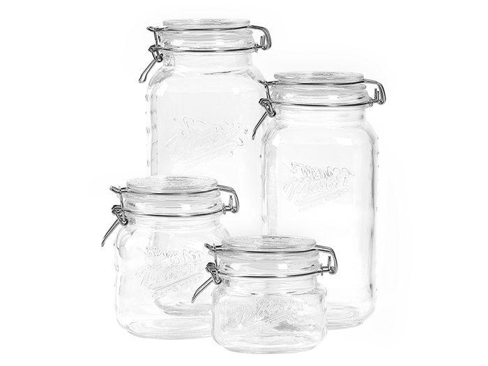 single-use plastic swap   sustainable upgrades eco-friendly home upgrades   glass jars
