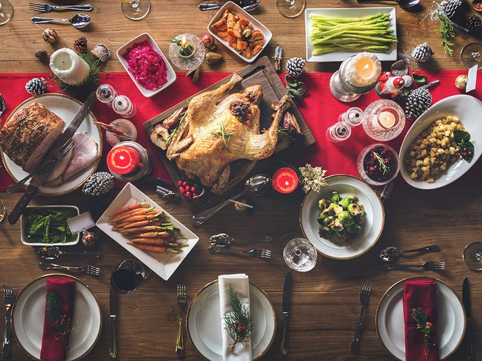 let go of holiday traditions   Christmas feast   holiday table