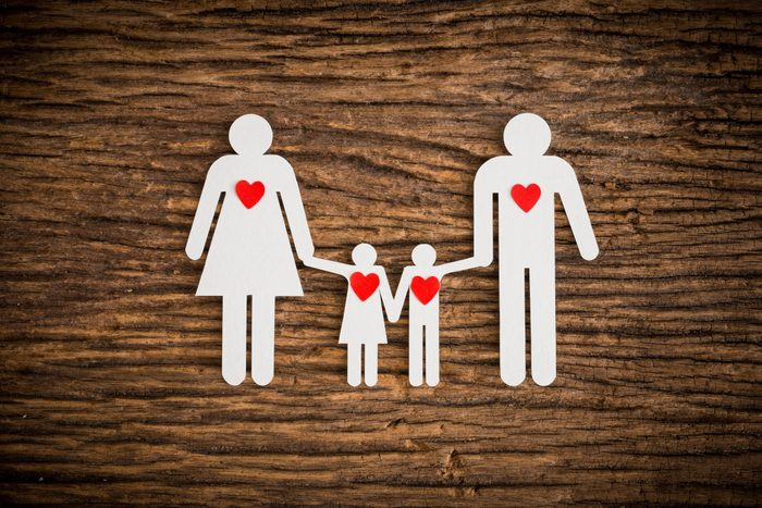 is heart disease genetic   Family Made With Paper On Wood