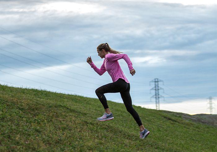 Melissa Bishop   image of olympic runner melissa bishop running up a hill