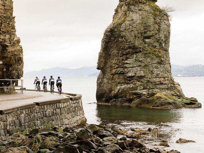Best Biking Apps | photo of women riding their bikes around a bend