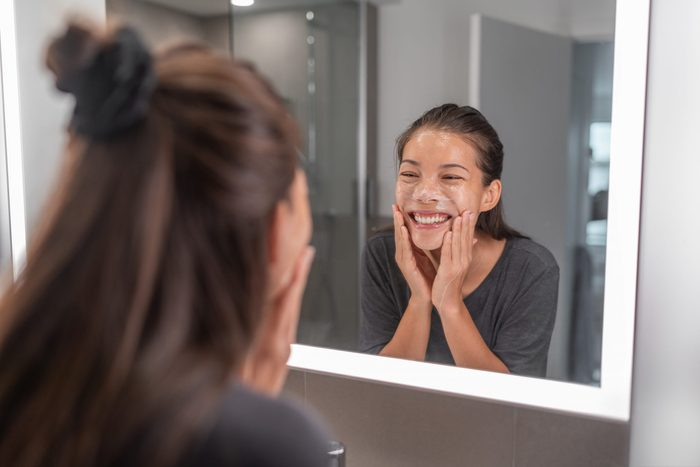 best new beauty products   Face,wash,young,asian,woman,washing,using,facial,scrub,exfoliating