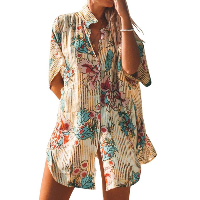 Cupshe Floral Print Buttoned Blouse