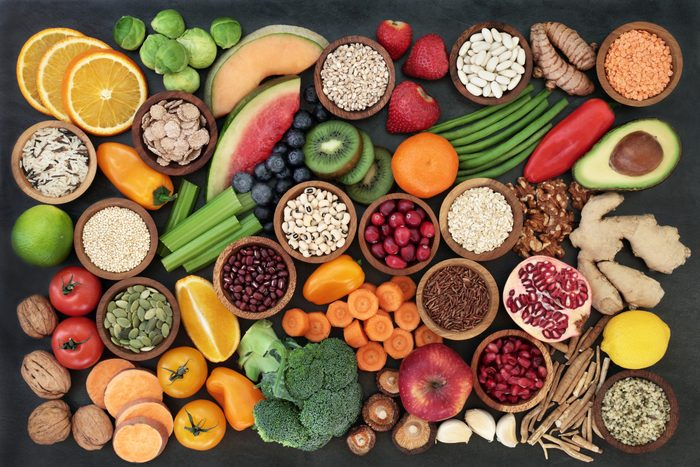 Immune,boosting,health,food,concept,with,fruit,,vegetables,,seeds,,pulses,